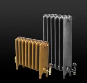 Cast iron radiators with painted finish