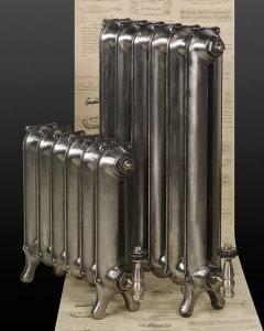 2 Hand polished victorian cast iron radiators